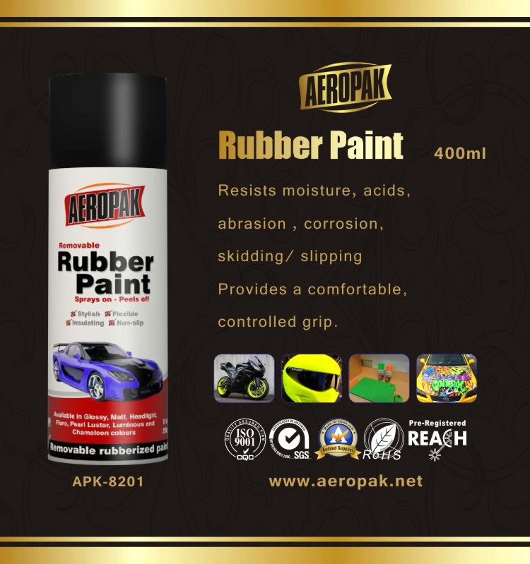 Aeropak Asian Rubber paint spray for car wheel