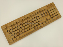 Hall Effect Gaming Mechanical Bamboo Wood Keyboard