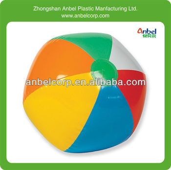 colorful inflatable rainbow beach ball