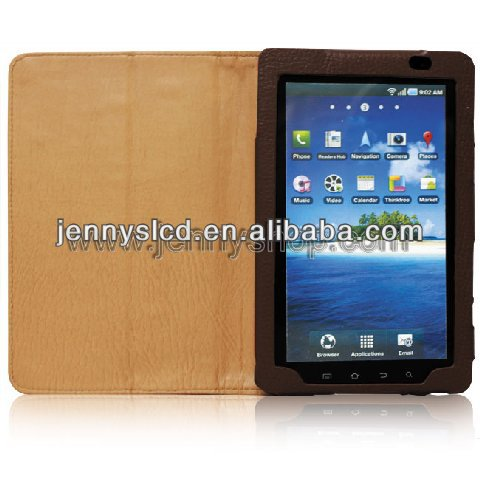 Luxury Mobile Phone leather wallet case for ipad