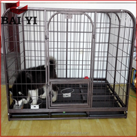 Durable Metal Folding Dog Crate/Stainless Steel Dog Kennels/Wholesale Breeding Dog Cage