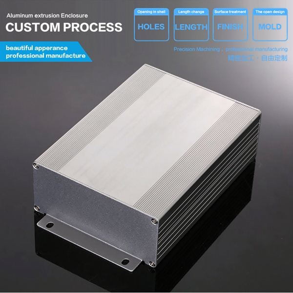 107*47-D mm Customized color anodized enclosure for electronic