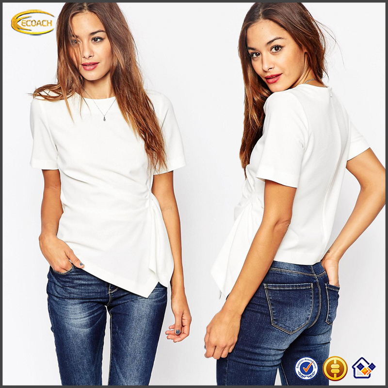 Ecoach 2016 OEM Wholesale High Quality Crew Neckline Short Sleeve T Shirt Factory