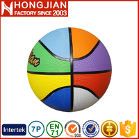 HB009 top level 8-panel rainbow color basketball