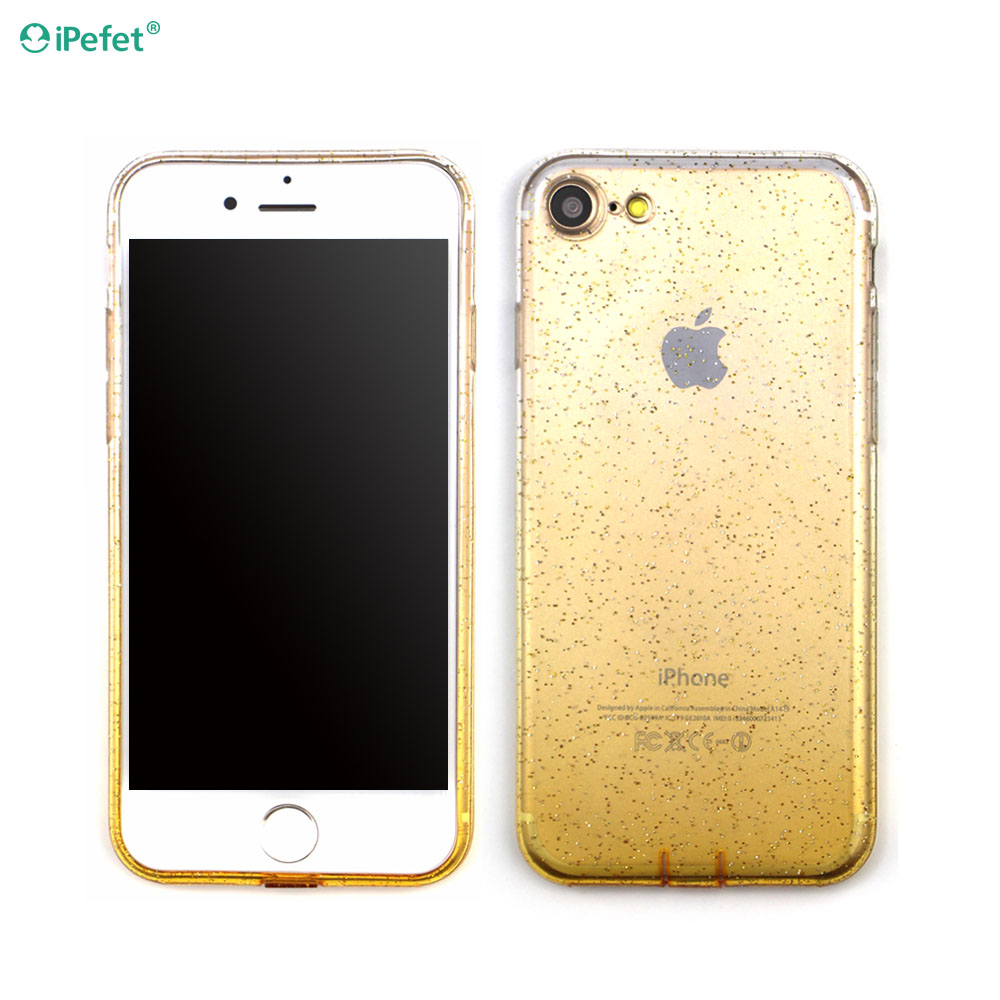 2016 Popular Design Luxury Crystal Gradient Color tpu transparent mobile phone case for iphone6