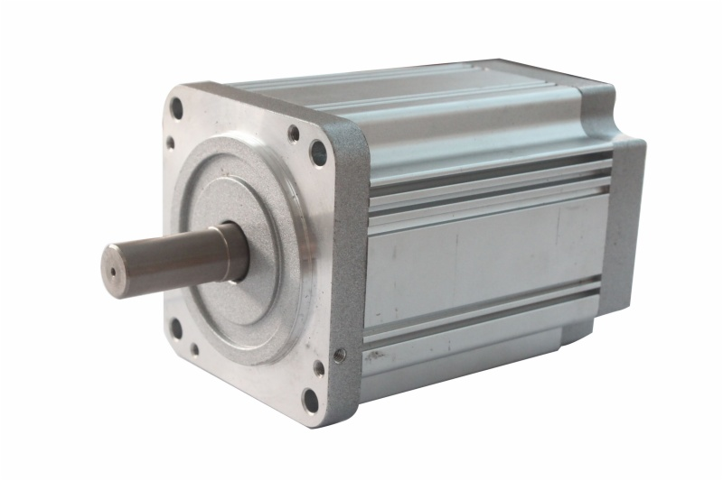 1200rpm 250w DC 24v 80mm square brushless motor 14mm shaft diameter , shaft length customized