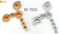 factory direct hot fix rhnistones cheap sewing accessory glass motif rhinestones mixed color sliver pearl accessories for women