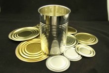 High Empty Round Fruit Syrup Tin Can With Lid/Fruit Candy Tin Can/Tall Round Tin Can