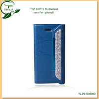 Competitive price leather flip PU case for iphone 5 5g,2014 Hot Selling Wallet Cheap Mobile Phone Case for iPhone 5