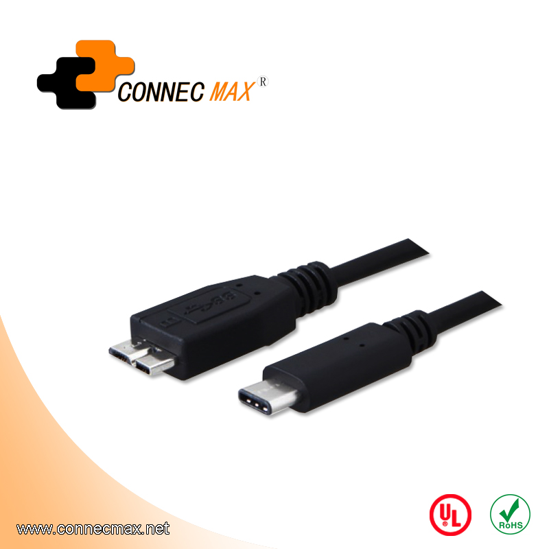 data charging cable usb type c to usb 3.0 micro B cable for mobile phone