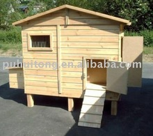 easy-cleaning wooden chicken coop