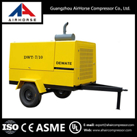 China Made factory Price Double Screw portable diesel engine driven black cat air compressors
