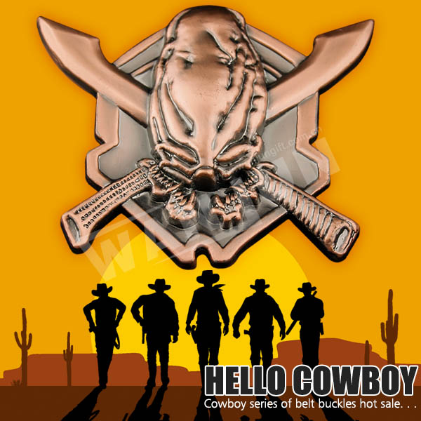 90mm cool western cowboy belt buckle