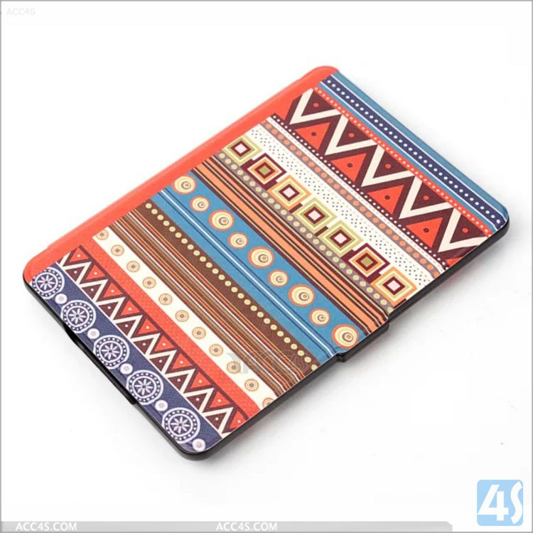 Colorful printing pattern Case cover for amazon kindle, leather case for kindle paperwhite 1/2/3