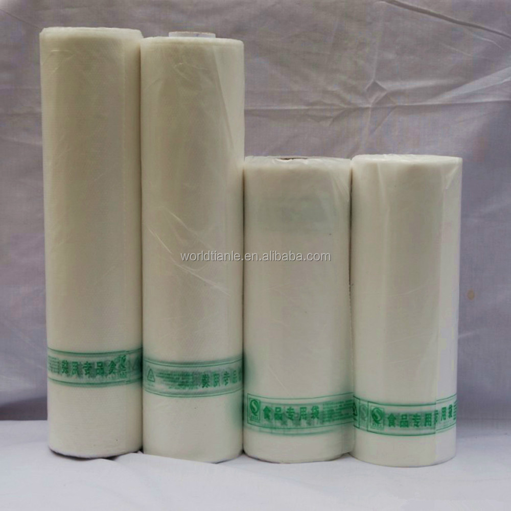 Commercial clear vacuum sealer plastic food packaging bag roll bags