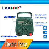Lanstar agricultural safety electric pulse fence energize, Greenhouse security solar panel electric fencing equipment From China