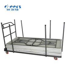 banquet table trolley cart/metal dolly for moving foldable table
