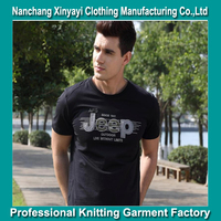 100% cotton men t shirt with the hand embroidery made in Jiangxi Nancahng