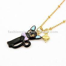 Korea fashion jewelry necklace-small black cat
