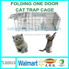 Galvanized metal wire wild animal trap cage ,cat size made China supplies TLD2012
