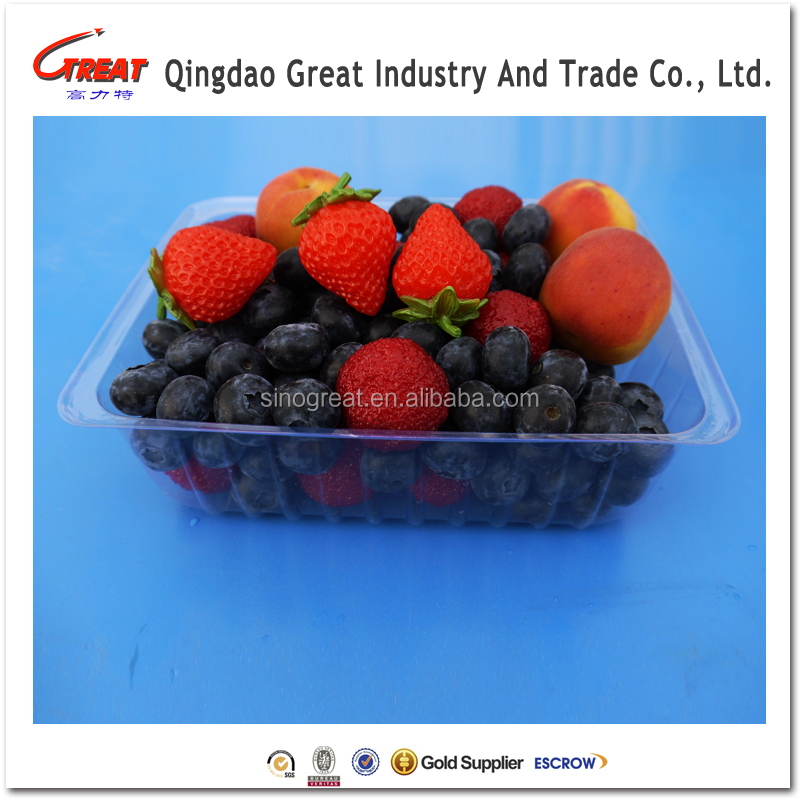 Clear Cherry Tomato Fruit Plastic Transparent Packaging Tray