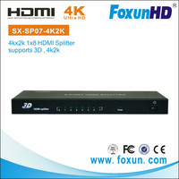 Factory supply SX-SP07-4K2K 8-port hdmi splitter 1 hdmi input and 8 hdmi output