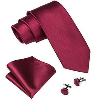 wholesale necktie Italian men ties and handkerchief silk tie set