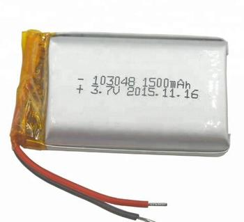 Hot sell Low price 103048 3.7v 1500mah rechargeable lipo battery