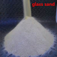 High purity different sizes glass grade silica sand