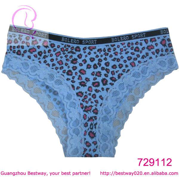 Women sex image sex hot panties with lace printing leopard