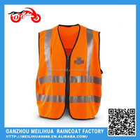 Road maintenance workers high-visibility Orange safety vest