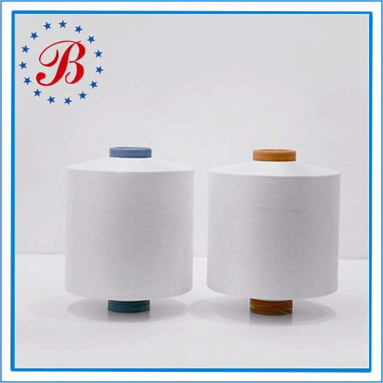 100% Polyester Wholesale China Factory Semi Dull NIM Raw White or Dope Dyed Polyester Drawn Textured DTY Yarn 150D 48F