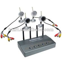 2.4GHz 4-CH Rotatable Wireless Surveillance Camera System w/ Night Vision + Microphone (4-Camera Set)