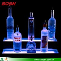 Custom made acrylic led liquor display shelf
