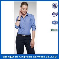 woman office shirts Custom Women Formal Shirts Designs ladies formal shirt disign
