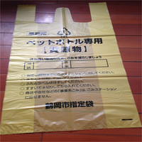 wdl035 ptinted biodegradable plastic garbage bag, polythene trash bags, customized t shirt refuse bags