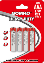 dry cell 1.5v aaa battery R03, dry battery