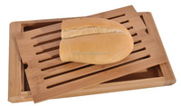"Hot Sale Bamboo Bread Cutting Board Unique Design Easy Clean Kitchen Bamboo Chopping Board 14.25"" W X 8"" D X 1.5"" H Manufacture"