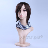 H1022 attractive plastic female dummy/mannequins/model head make up