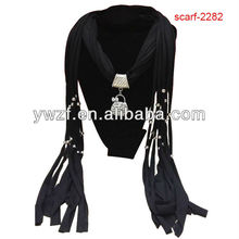 jeweled scarf with jewellery beads