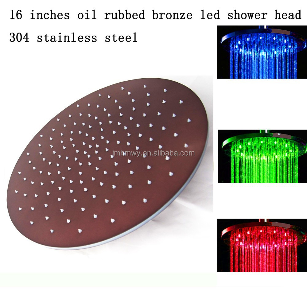 "classical bathroom shower 16"" ORB oil rubbered bronze bathroom classical bathroom shower led shower head"