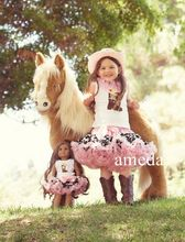 "Girls & 18"" Doll Pettiskirt Tutu Pink Cowgirl Boots Tank Top Costume Hat Outfit 1-7Y"