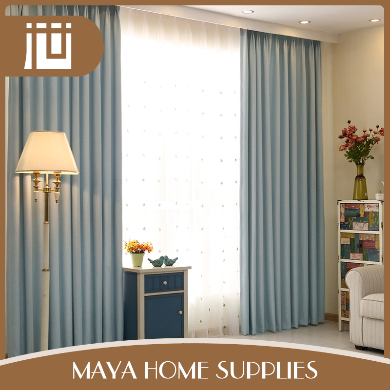 New style luxury solid color indian window curtains factory