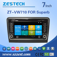 double din car dvd gps For Skoda Superb car dvd player GPS navigation system with rear/front camera DVR