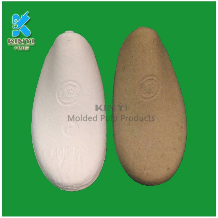 Dongguan customized wet pressing eco friendly biodegradable pulp molding cardboard shoe inserts, shoe support, paper shoe tree