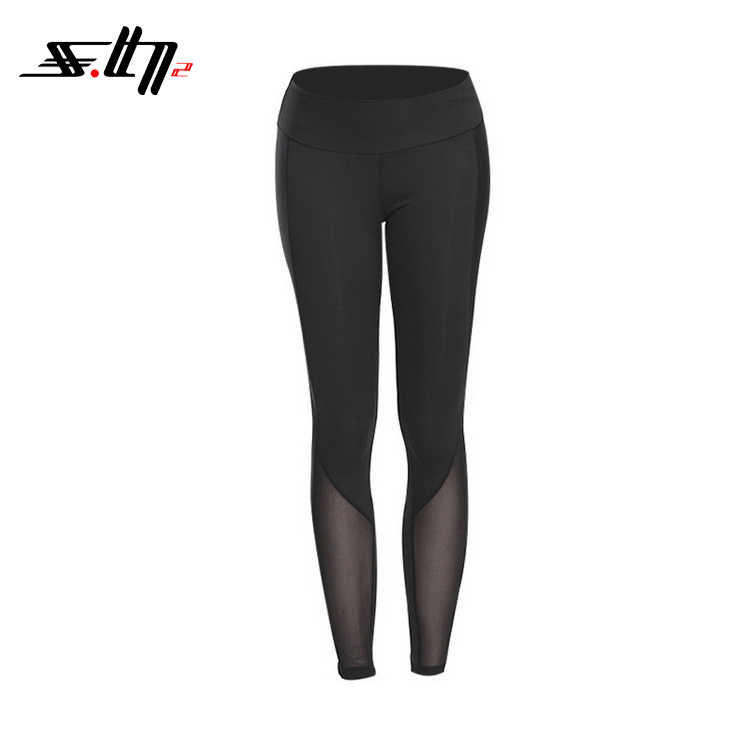2018 Wholesale women customize sports wear polyester/nylon-spandex fitness yoga leggings