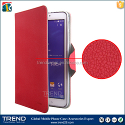 magnetic flip snow pattern leather case for samsung galaxy tab 4 8