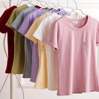 Women Premium Fitted Solid Color Comfort Blank 100 percent Polyester T Shirts Wholesale