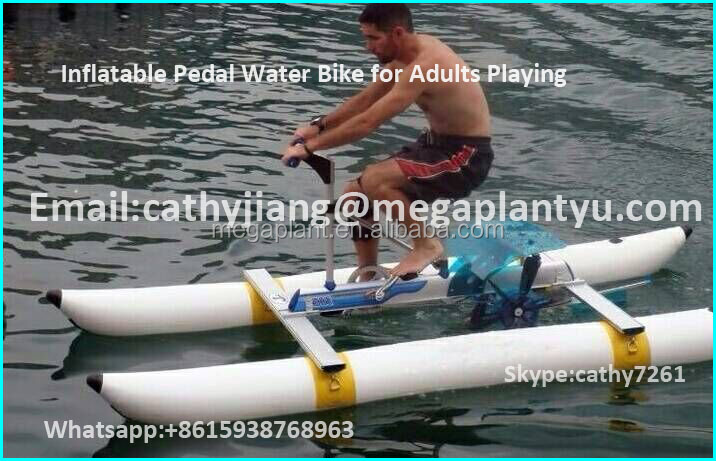 PVC Kids Inflatable Pontoons Water Used Sea Pedal Bike Boats for Sale Price
