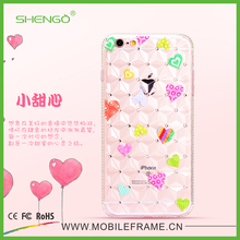 Cheap Top Quality Fashionable OEM Cartoon UV Printing Crystal TPU Cellphone Case for iPhone 5